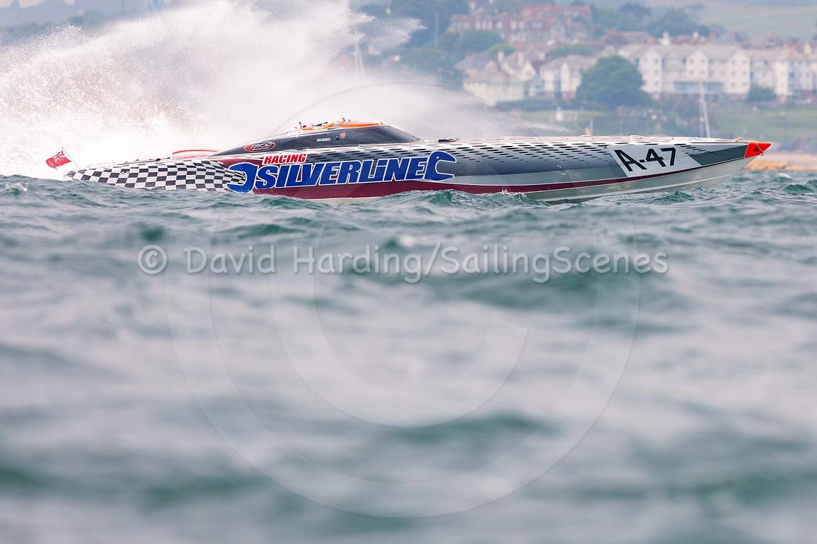 Silverline, A-47, Fortitudo Poole Bay 100 Offshore Powerboat Race, June 2018, 20180610046