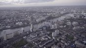 Aerial footage of Vauxhall, Lambeth and Westminster, London