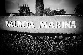 Pictue of Balboa Marina Sign in Newport Beach