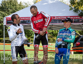 Unexpected danger on the podium of We Need More Cowbell - CX O-Cup #1, Burgoyne Woods Park, St. Catharines, On, September 22,...