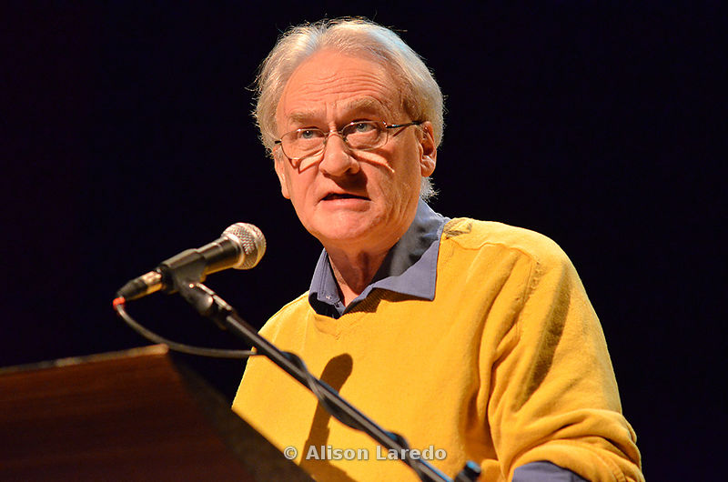 Poet Paul Durcan at the Linenhall Arts Centre, Castlebar