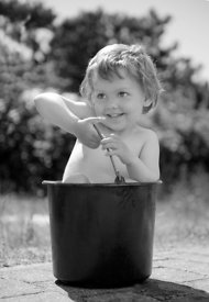 Girl in bucket #3