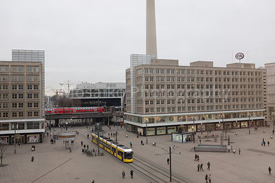 BERLIN - FEBRUARY 16: Alexanderplatz in Berlin Mitte on February 16, 2016.