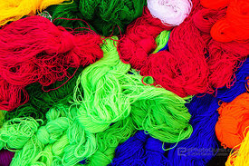Dyed Coloured Wool