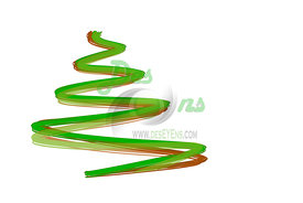 christmas tree, isolated
