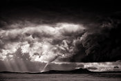 Tornado drops it's spout on Hog Back Butte | Temple Peak New Mexico | June 2014