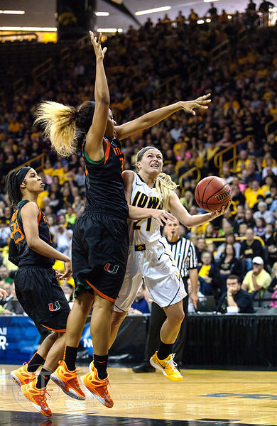 PC - NCAA WBB Iowa vs Miami U, March 22, 2015