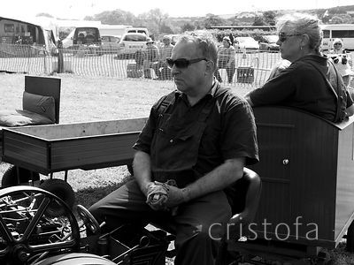 serious participants at the West of England Steam Rally at Stithians