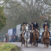 The Cottesmore Hunt at Furze Hill 26/2