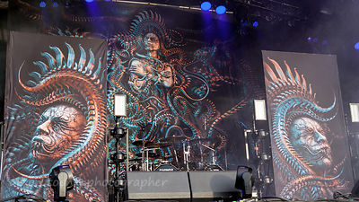 Stage artwork, Meshuggah