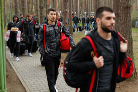 Alex Dujshebaev during the Final Tournament - Final Four - SEHA - Gazprom league, Team arrival in Brest, Belarus, 06.04.2017,...