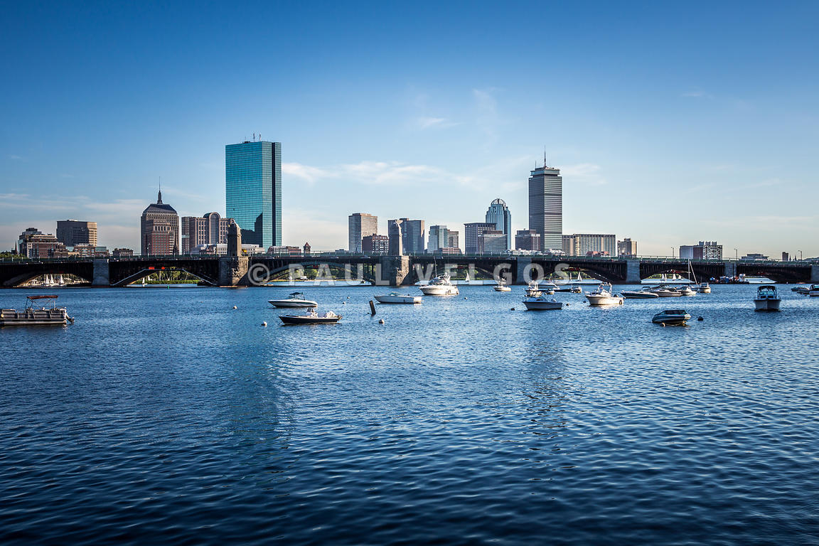 Boston Skyline with the Longfellow Bridge