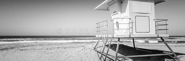 Huntington Beach Lifeguard Tower Panorama Photo