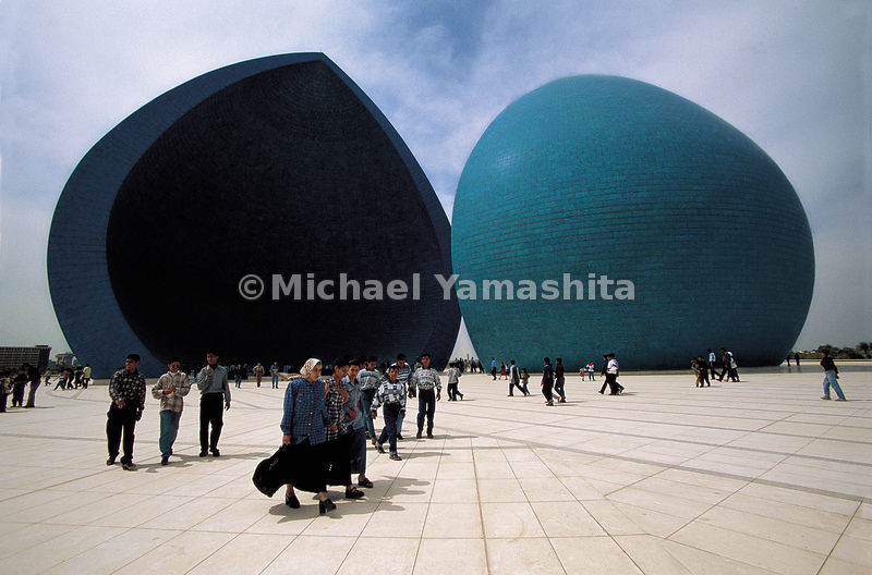 The double dome in Baghdad, Iraq is dedicated to the dead in the war against Iran.