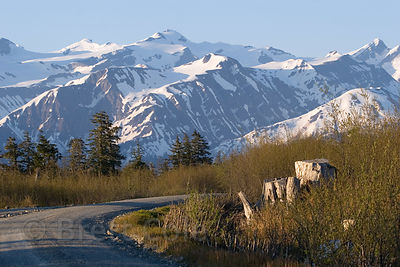 Beautiful mountains in the Chugach National Forest, Alaska