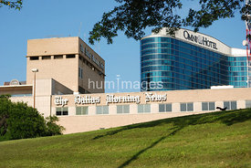 Dallas Morning News and Omni Hotel in downtown Dallas, Texas