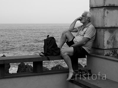 pondering by the sea