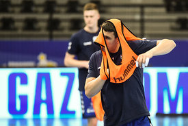 Leon Strbad of team PPD Zagreb training during the Final Tournament - Final Four - SEHA - Gazprom league, Skopje, 12.04.2018,...