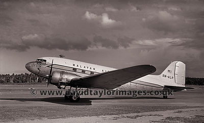 Malayan Airways DC-3 9M-ALP | Singapore Paya Lebar March 1963