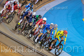 Women's Omnium 4: Points Race. Track Cycling World Cup Milton, October 28, 2018