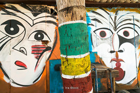 A detail of a mural in Cojimar, a small fishing village east of Havana, Cuba.  Ernest Hemingway made this village famous in h...