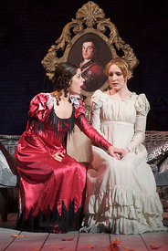 (l to r) Sophia Linden, Kim Gerard in The Royal Lyceum's 'Vanity Fair' directed by Tony Cownie