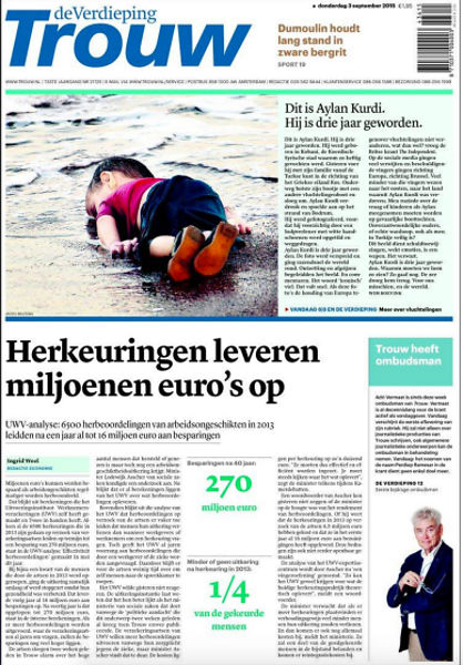 drowned-migrant-boy-trouw-front-page