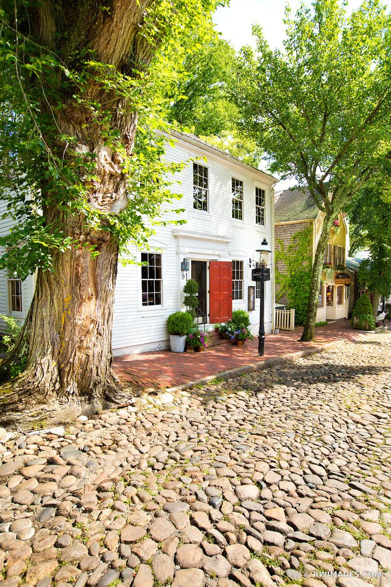 NANTUCKET OLD COBBLESTONE STREET NANTUCKET ISLAND MASSACHUSETTS COLOR VERTICAL