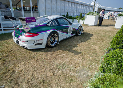 Porsche GT3 Cup in Goodwood Road Racing Club colours - Celebrating 50 years of the Porsche 911 at Goodwood Festival of Speed ...