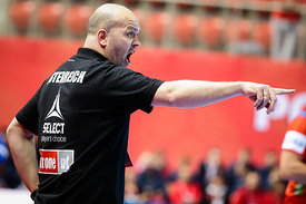 Patrekur Johannesson during the EHF EURO Croatia 2018 - Preliminary round -  Group B - Norway vs Austria in Zatika Sports Cen...