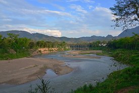 Beautiful Nam Khan River Luang Prabang