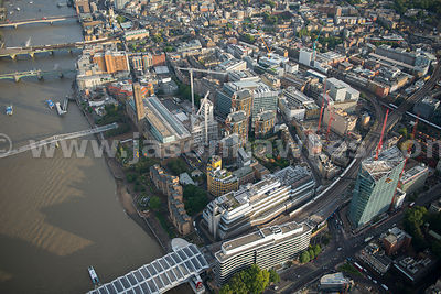 Aerial view over The Tate Modern, London