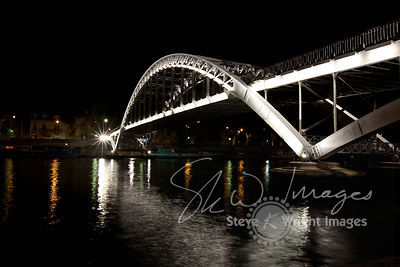 Passerelle Debilly and River Seine at Night - Paris, France