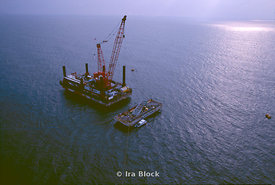 Aerials of the Jack up barge Karissa B