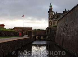 The inner moat at Kronborg Castle