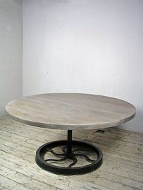 Round table on iron base photos
