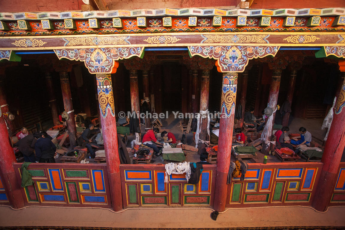 The Parkhang Houses over 200,000 blocks engraved with Tibetan literature, history, medicine and religious writing, making it ...