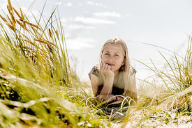 Girl in the dunes in Denmark 3
