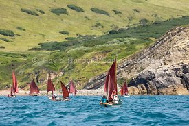 Drascombes approaching Lulworth Cove, 201707070339