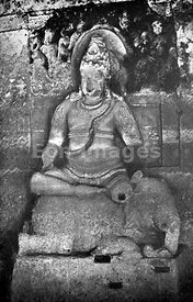 Statue of Indra at Ellora