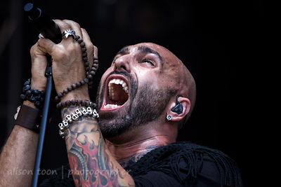 Adrian Patrick of Otherwise performing at Aftershock 2014