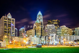 Downtown Charlotte North Carolina City at Night
