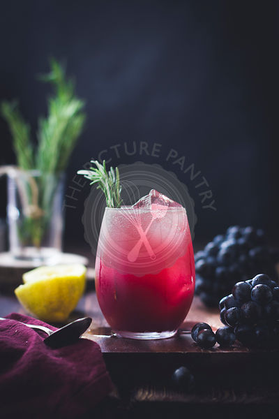 Rosemary grape cocktail