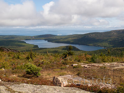 Eagle Lake from the top of Sargent Mountain on Mount Desert Island