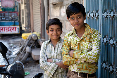 Brothers in Jodhpur, Rajasthan, India