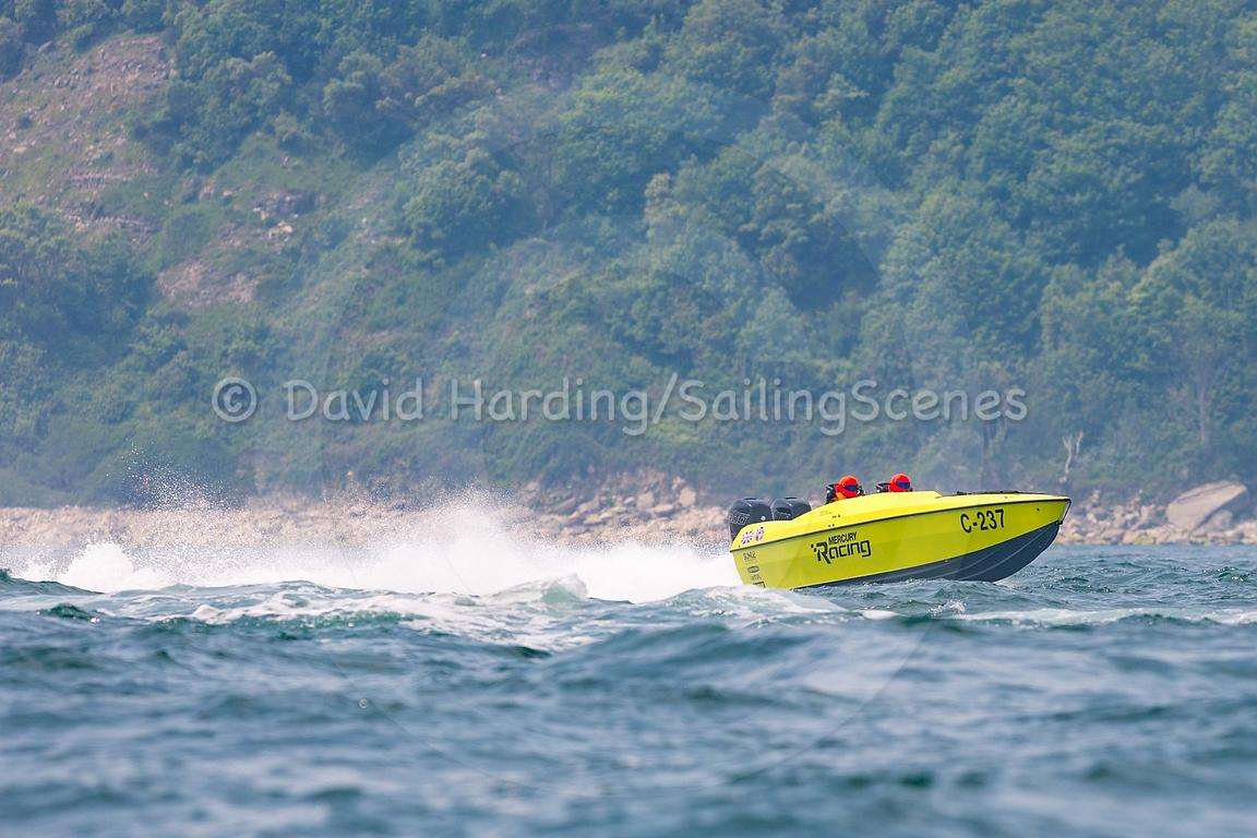 Mercury Racing, C-237, competing in the Fortitudo Poole Bay 100 Offshore Powerboat Race, 10th June 2018, 20180610083