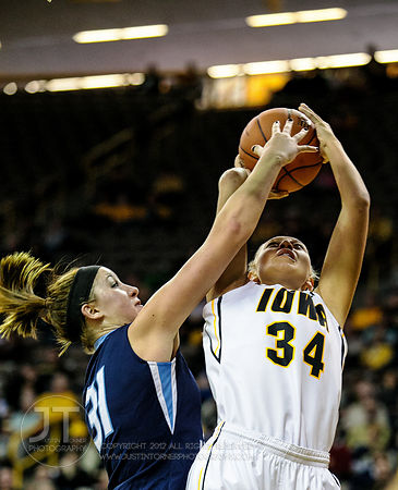 PC - Iowa vs St Ambrose WBB, November 9, 2014