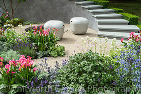 The On the Edge: The Centre for Mental Health Garden at the RHS Hampton Court Flower Show 2017. Designer: Frederic Whyte. Spo...