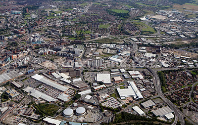 aerial photograph of Leeds