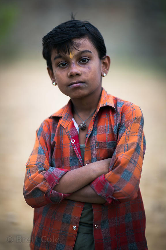 Portrait of a boy in Pushkar, Rajasthan, India